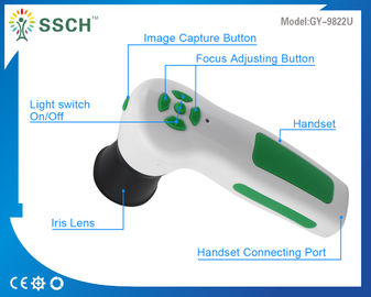 Handheld 12 MP Iriscope USB Iridology Camera For Professional Ophthalmology , CE