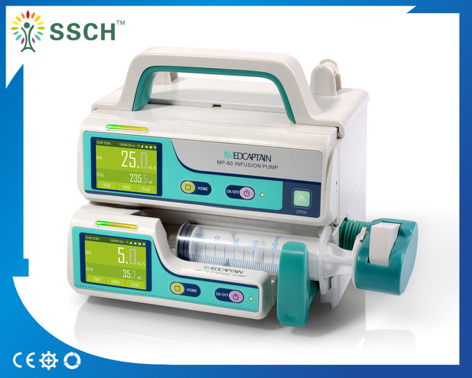 Portable CE Battery Build-in Medical Infusion Pumps / Medical Electric Syringe Pump DC 12 V
